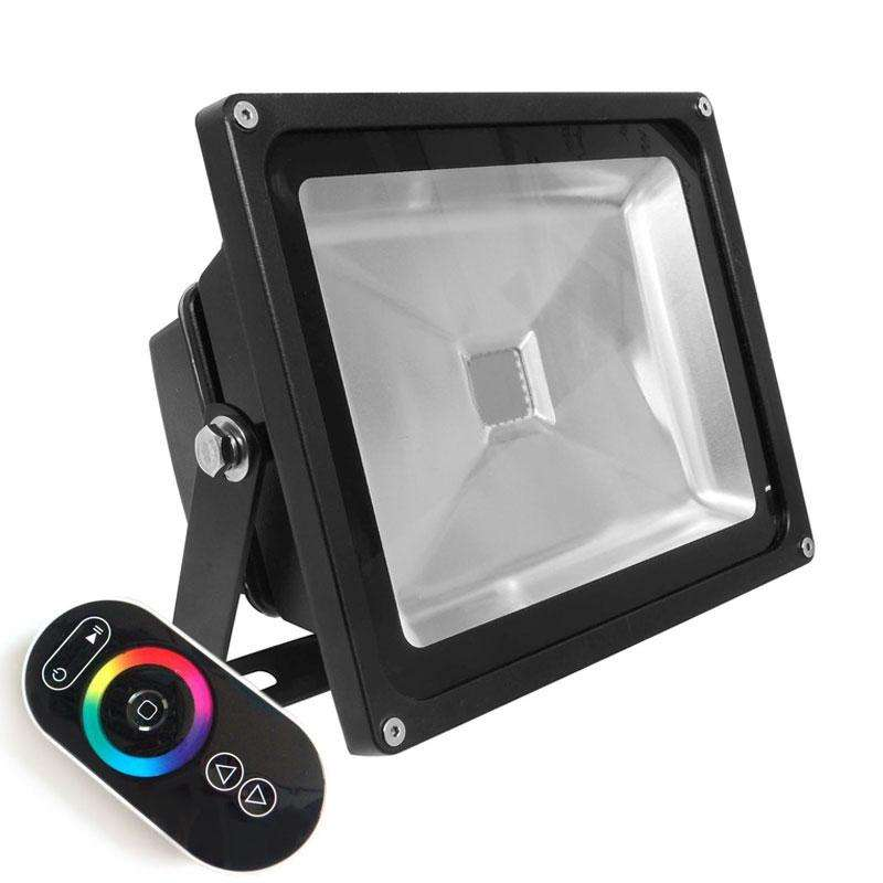 Proyector Led de exterior MICROLED, 50W, RGB-RF, RGB